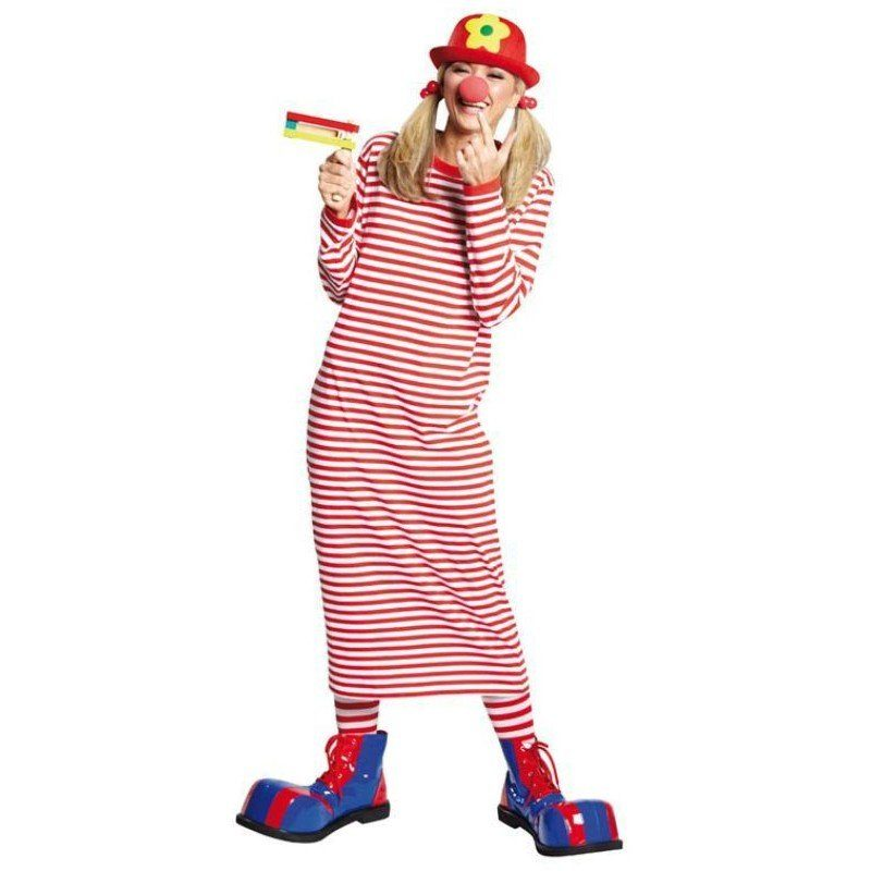 Ringel Shirt Clowns-Nachthemd für Erwachsene