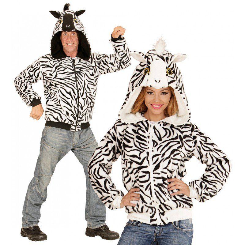 Zebra Jacke Plüschkostüm