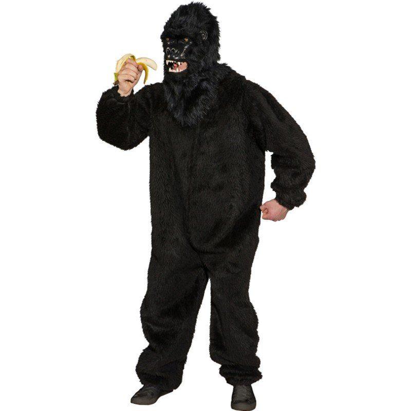 Gorilla Plüsch Kostüm für Herren - 1,75-1,90m