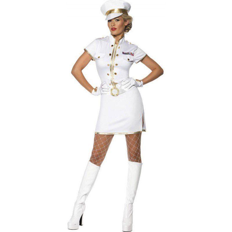 Sexy Kapitänslady Kostüm
