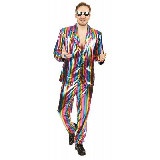 Metallic Rainbow Partyanzug Herrenkostüm