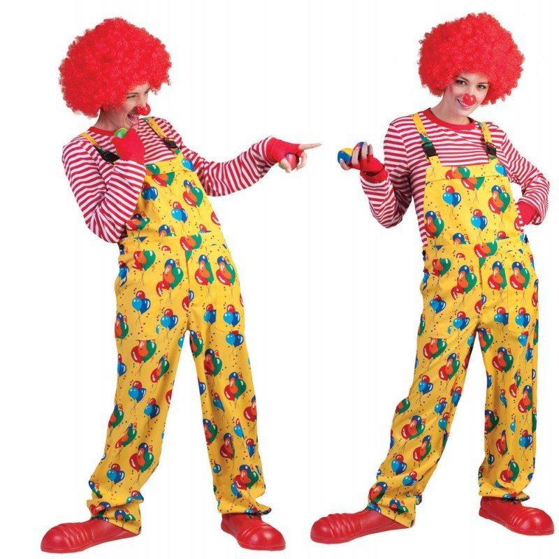 gelbe latzhose clownkost m f r erwachsene kaufen otto. Black Bedroom Furniture Sets. Home Design Ideas