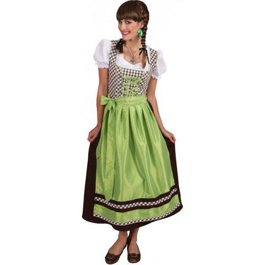 Dirndl Sigrid braun-grün