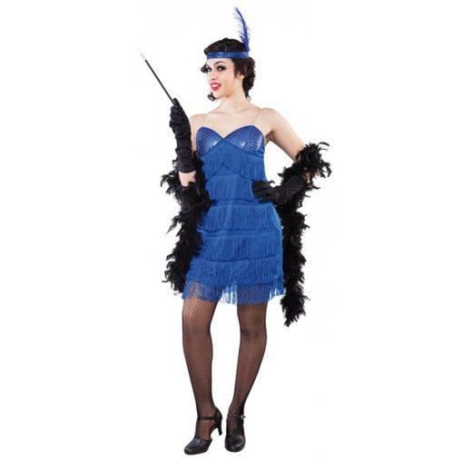 Blaues Charleston Damenkostüm - M/L
