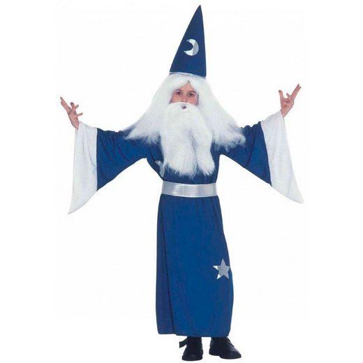 Blauer Zauberer Kinderkostüm