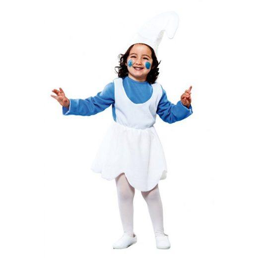 Blauer Zwerg Mädchen Kostüm - Kinder (2-4 Jahre)
