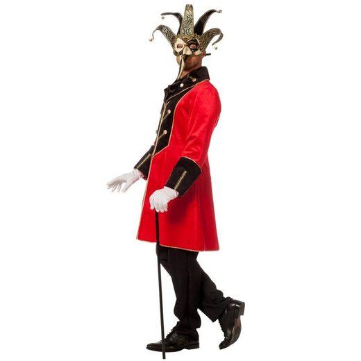 Samtige Maskenball Robe für Herren Rot