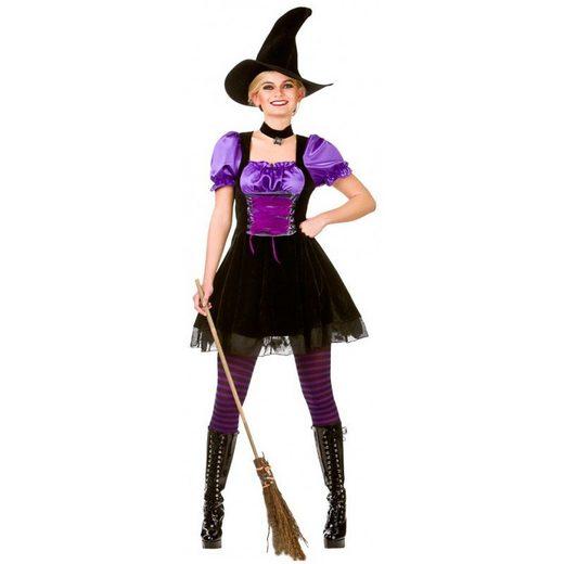 Hokuspokus Hexe Kostüm schwarz-violett