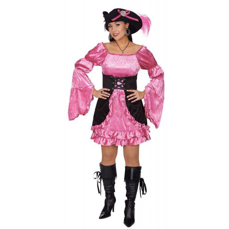 Piratin Rosa Rose Damenkostüm
