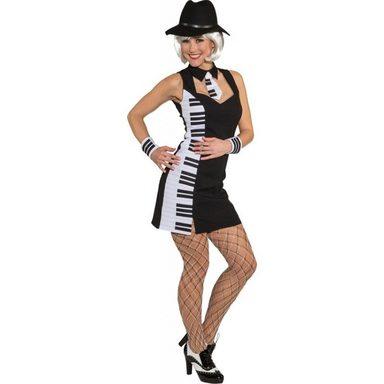 Klavier Kleid Damenkostüm