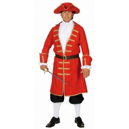 Elegantes Piratenkostüm für Herren rot