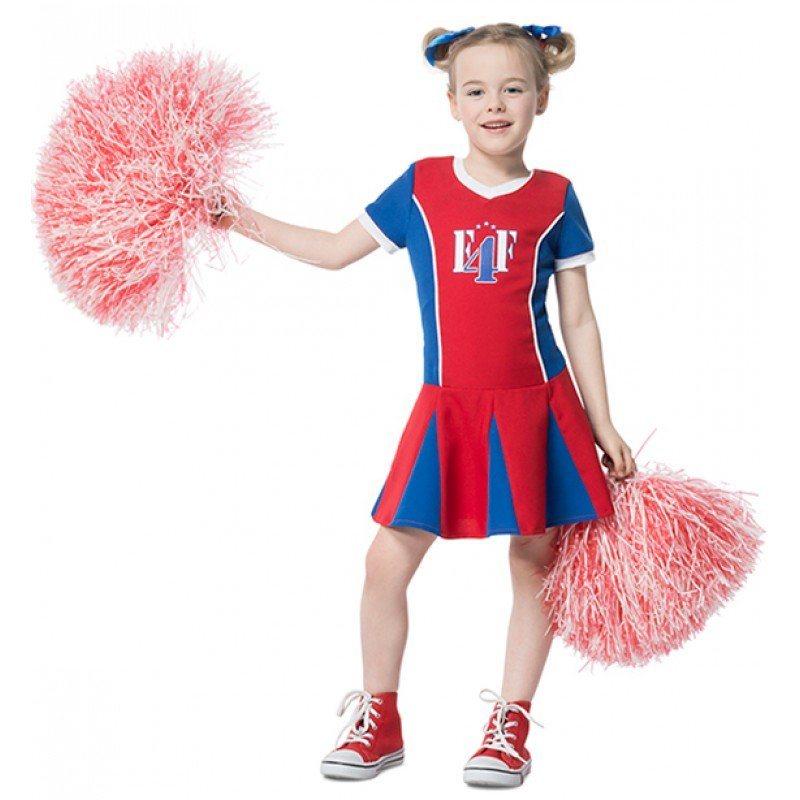 Cheerleader Girle Mädchenkostüm rot-blau kaufen | OTTO