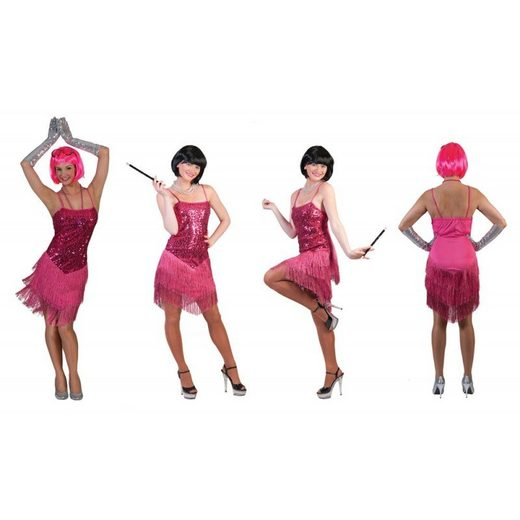 Pinky Flapper Lady Damenkostüm