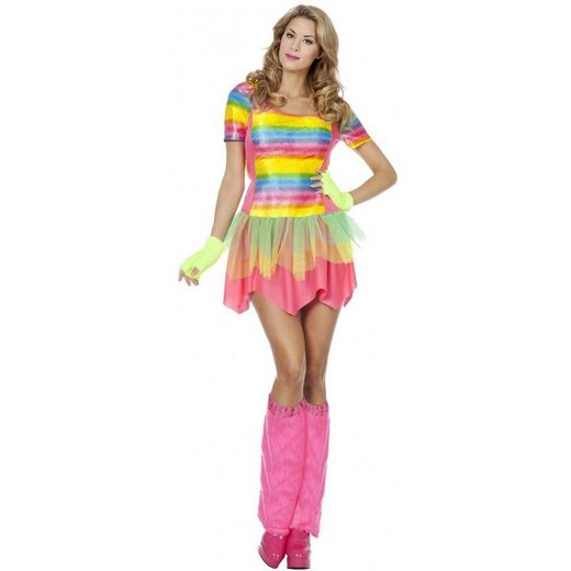 Raver Rainbow Girl Neon Party Kostüm