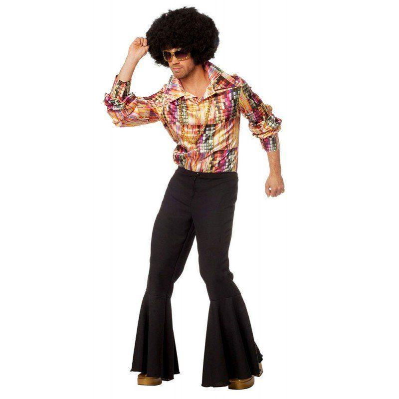 70er Jahre Disco Shiny Shirt Herrenkostüm