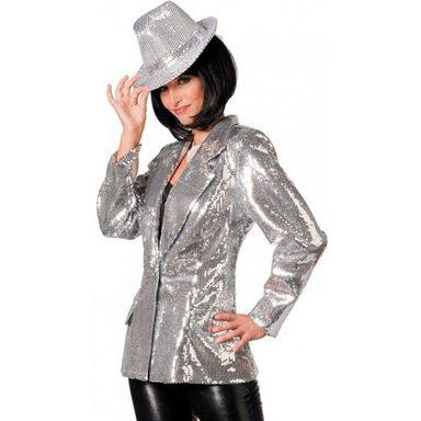 Deluxe Glamour Paillettenjacke silber