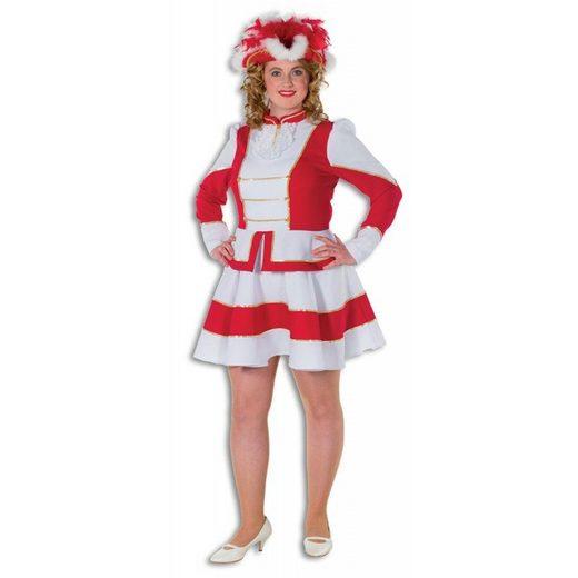 Tanzmariechen Garde Plus-Size Kostüm rot-weiß
