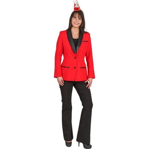 Elferrats Komitee Jacke für Damen rot
