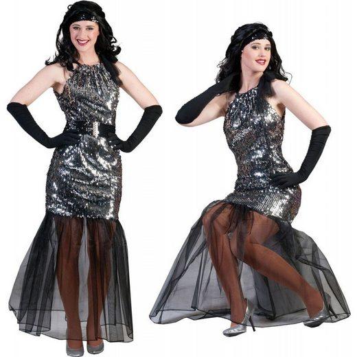 Glamour Silver Disco Diva Damenkostüm