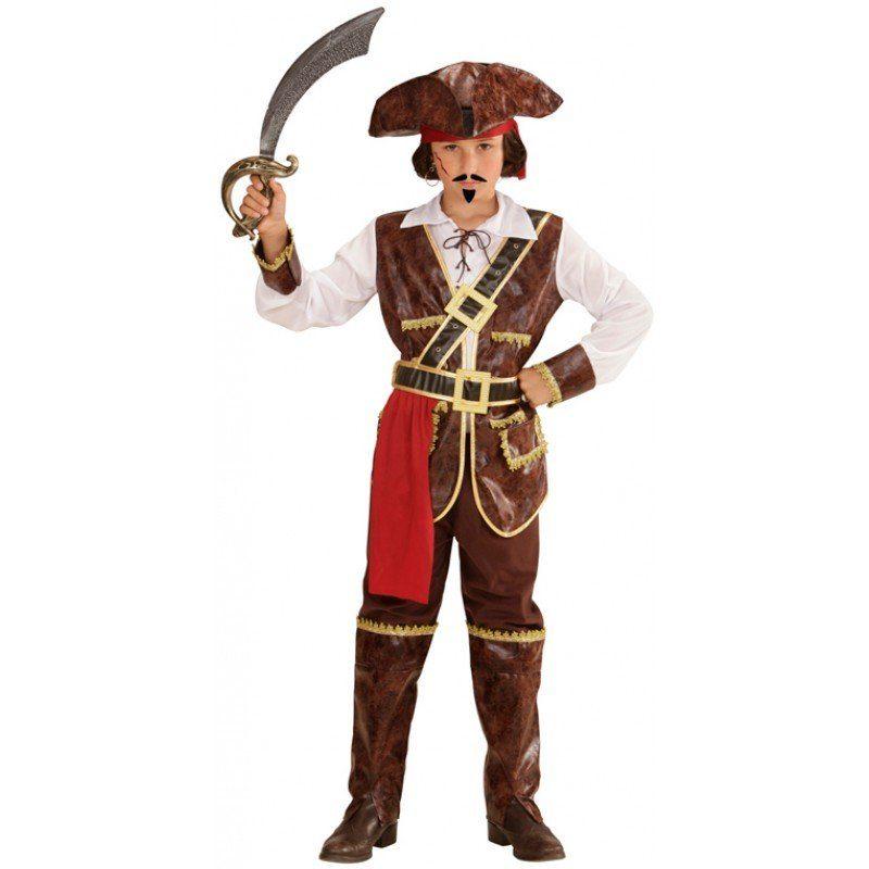 Unisex Pirat der Weltmeere Seeräuber Kinderkostüm braun | 08003558730353