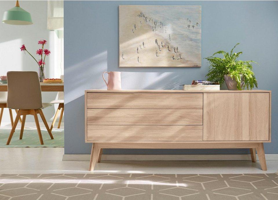gmk home living sideboard calluna im trendigen skandinavischen design breite 160 cm. Black Bedroom Furniture Sets. Home Design Ideas