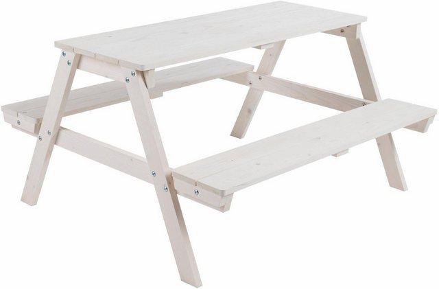 Sitzmöbel - Roba® Kindersitzgruppe »Picknick for 4, weiß«, (1 tlg)  - Onlineshop OTTO