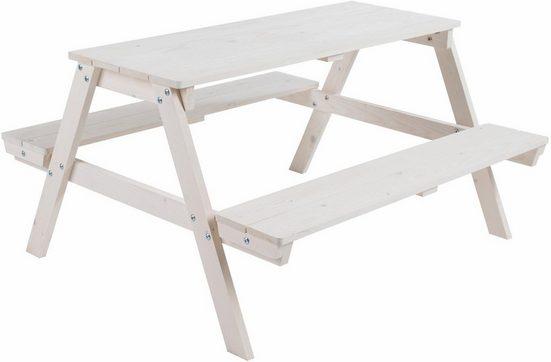 Roba® Kindersitzgruppe »Picknick for 4, weiß«, (1-tlg)