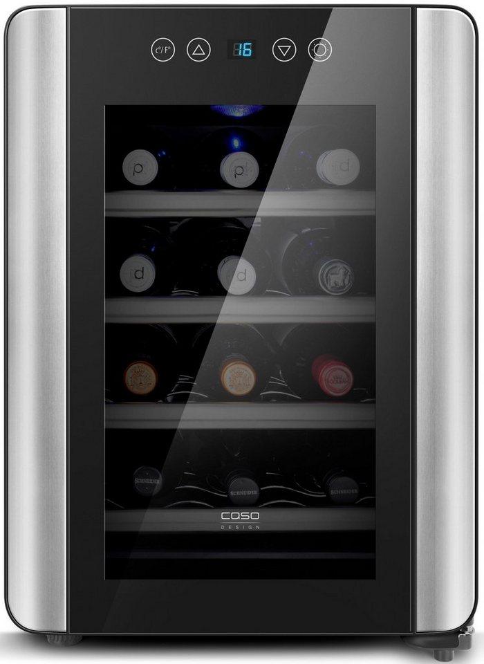 CASO Design Weinkühlschrank WineCase Red 12, Höhe 48 cm, für 12 ...