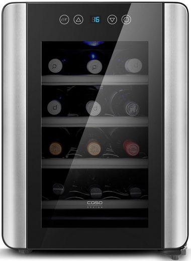 Caso Getränkekühlschrank WineCase 12 Red, 48 cm hoch, 34 cm breit