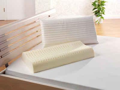 Nackenstützkissen, »f.a.n. Medisan Sleep & Care Latex«, f.a.n. Schlafkomfort, (1-tlg), hohe Stützwirkung, mit Belüftungskanälen