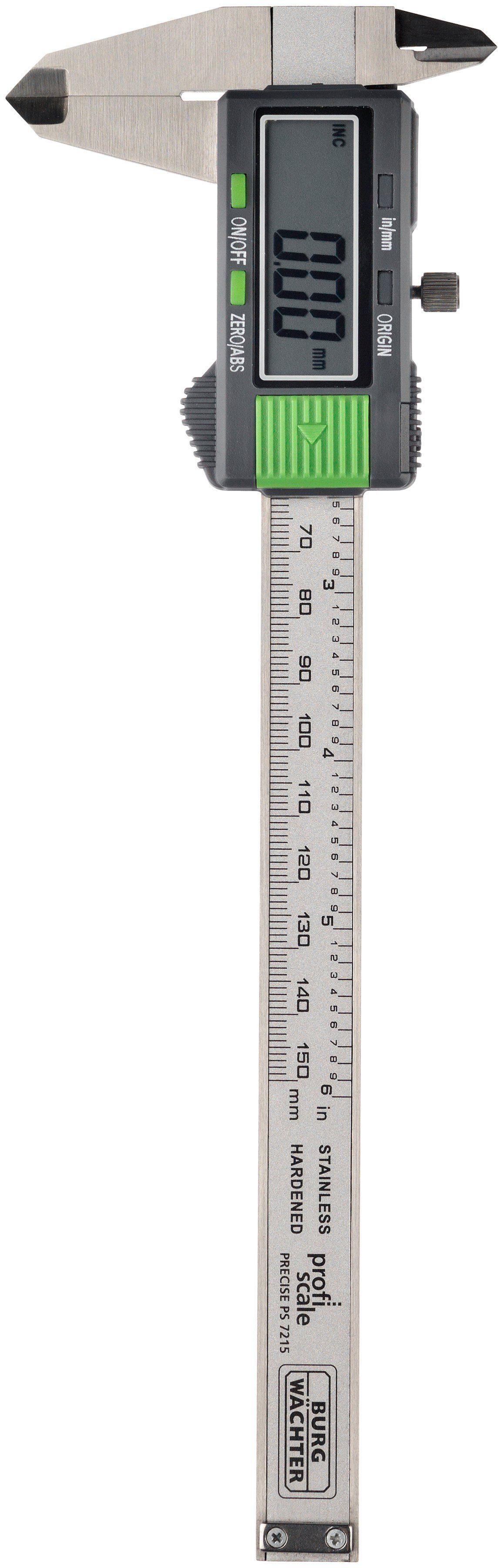 BURG WÄCHTER Messschieber »PRECISE PS 7215«, inkl. Batterien und Kunststoffbox