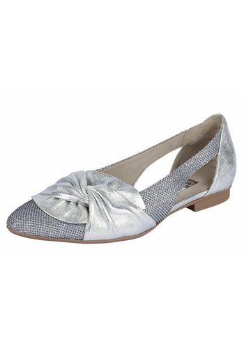 Damen GABOR Slipper im Metallic-Look silber | 04058394938023