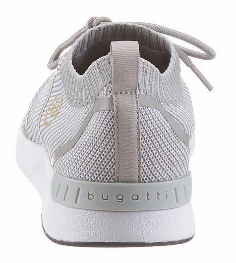 Bugatti Sneaker, With A Stylish Knit Bunch