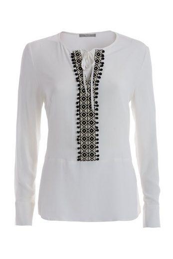 TUZZI Bluse mit dekorativem Ausschnitt