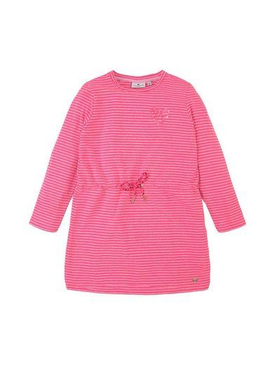 TOM TAILOR Strickkleid »Gestreiftes Jerseykleid mit Paillettenmotiv«
