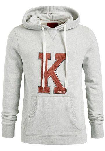 khujo Kapuzensweatshirt WILFORD, mit Kängurutasche