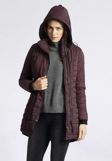 Khujo Quilted Coat Cayus, With Detachable Hood