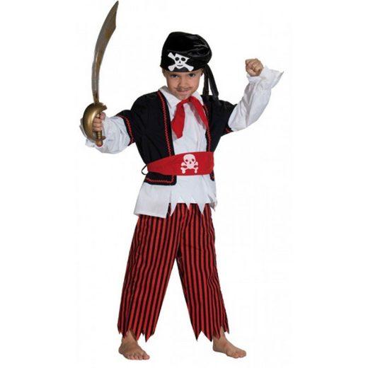 3tlg. Piraten Kostüm für Jungen