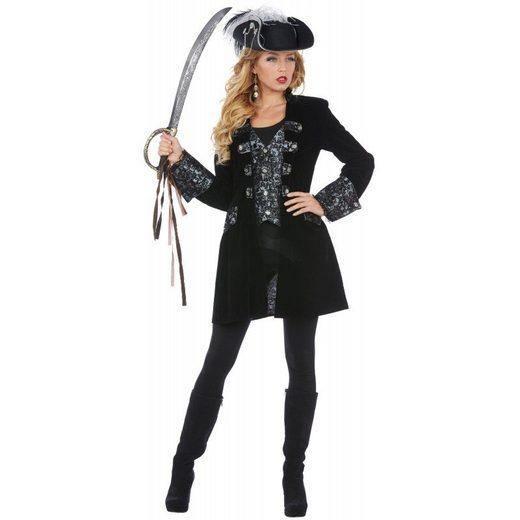 Diana Luxus Piraten Mantel Damenkostüm