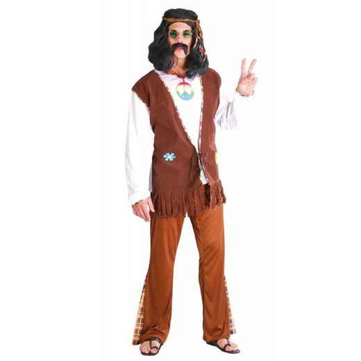 Jim Bob Hippie Man Herrenkostüm