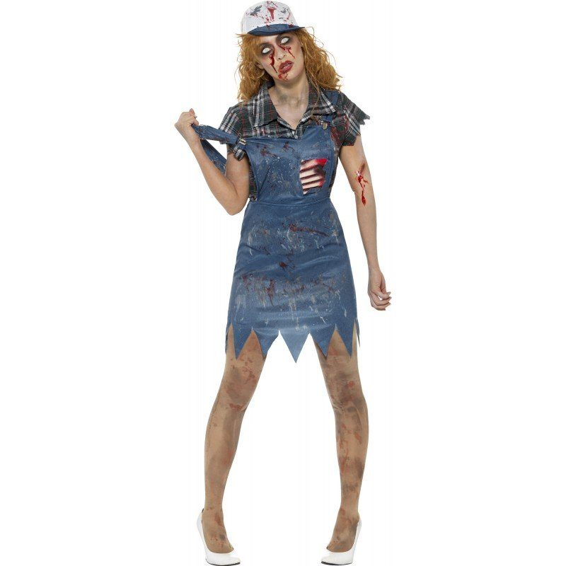 Unisex Wilma the walking Zombie Damenkostüm blau | 05020570275207