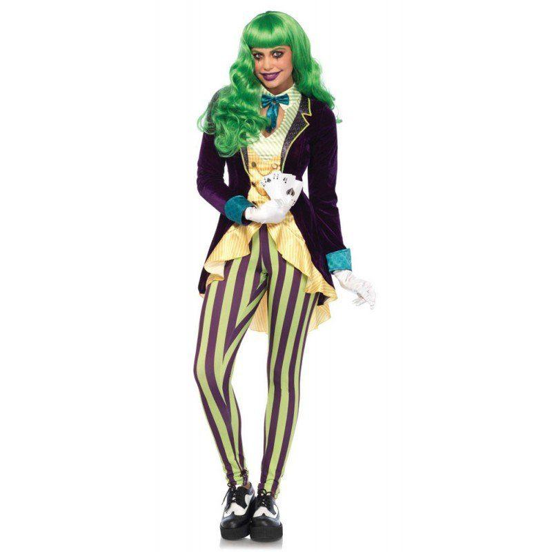 Unisex Jokers Lady Damenkostüm Deluxe bunt,  mehrfarbig | 00714718518640