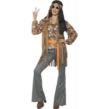 Groovy Hippie Lady Damenkostüm