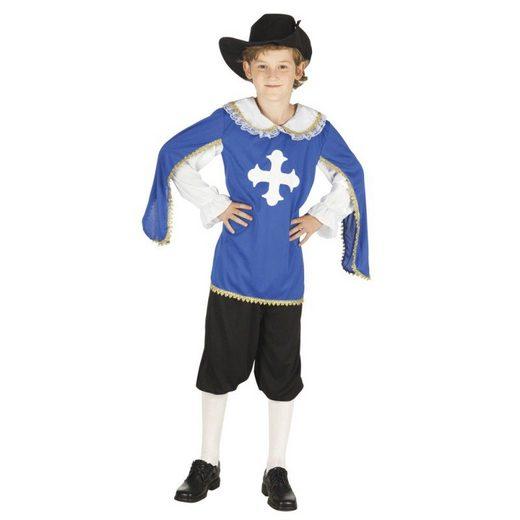 Julius Musketier Kostüm für Kinder blau