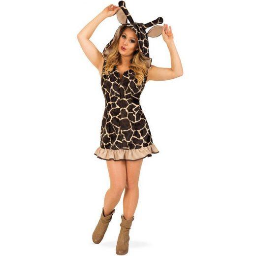 Weiches Giraffen Damenkostüm Deluxe