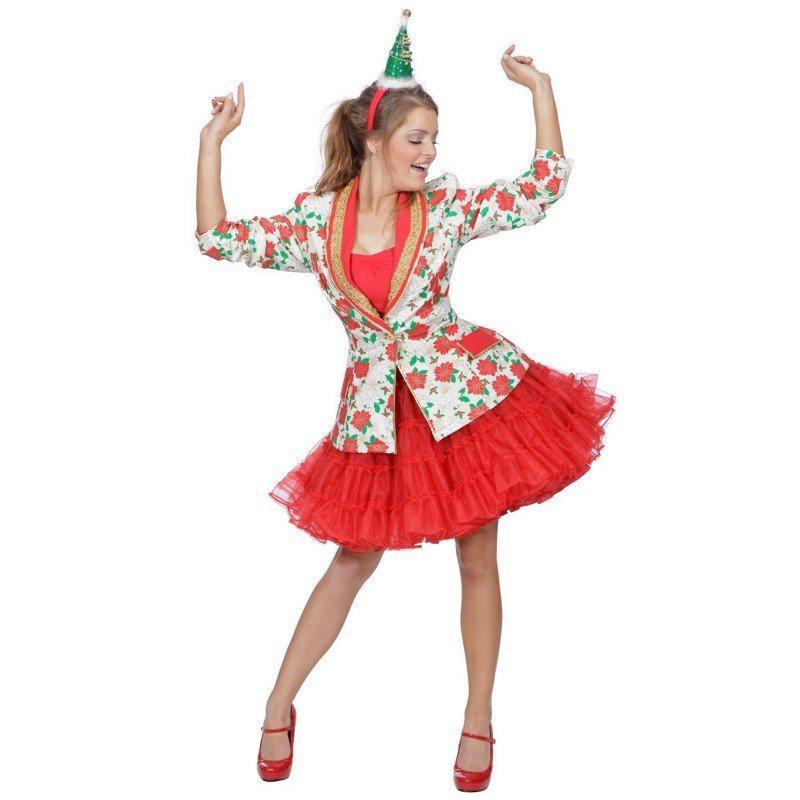 - Geblümte Weihnachtsjacke für Damen