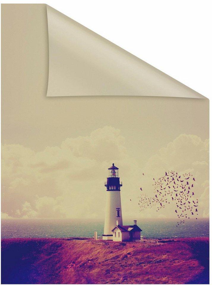 Fensterfolie leuchtturm lichtblick blickdicht strukturiert selbstklebend sichtschutz - Fensterfolie blickdicht ...