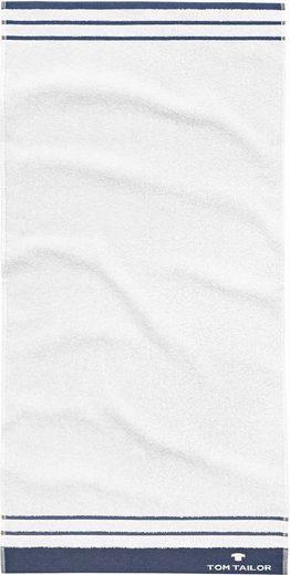 TOM TAILOR Badetuch »Uni Stripes« (1-St), mit Streifen ausgestattet