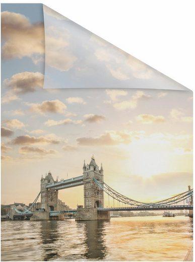 Fensterfolie »Tower Bridge«, LICHTBLICK, blickdicht, strukturiert, selbstklebend, Sichtschutz