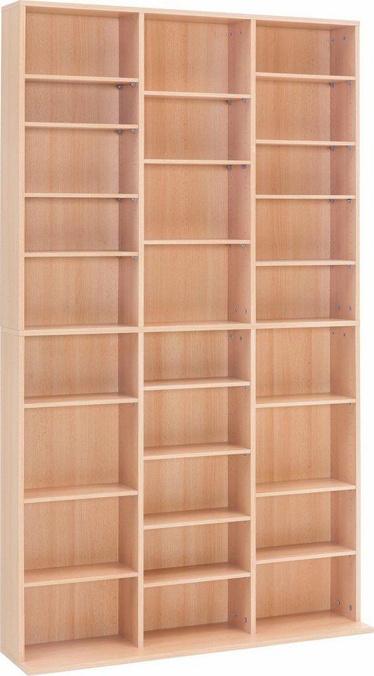 medien regal mit 27 f chern ma e b t h 102 23 178 cm. Black Bedroom Furniture Sets. Home Design Ideas